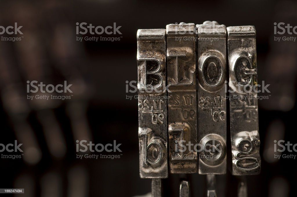BLOG made of typewriter letters royalty-free stock photo