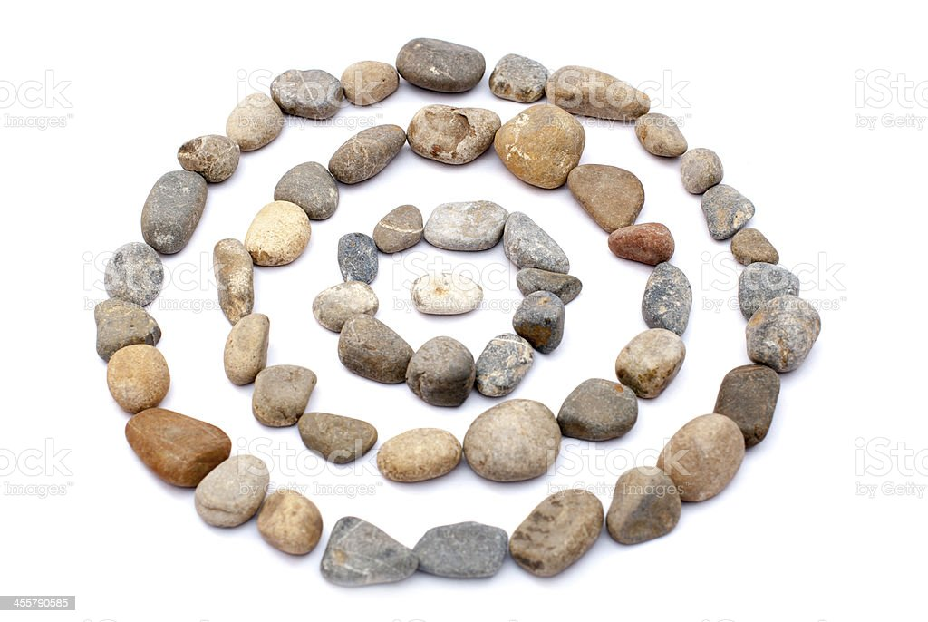 Made out by the pebbles stock photo