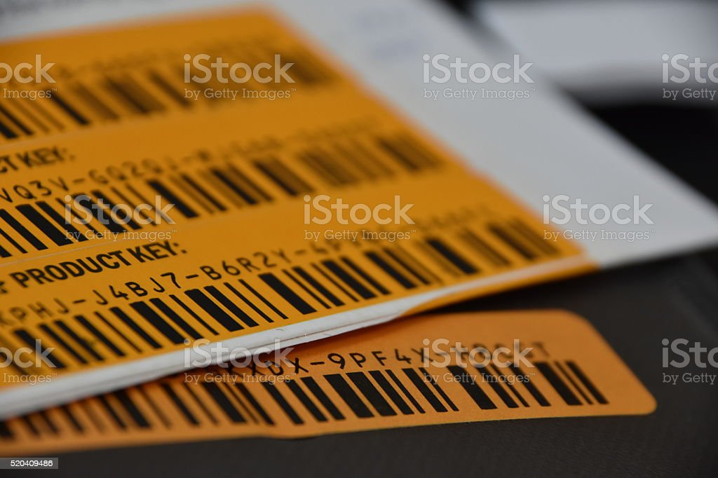 Made up product Code stock photo