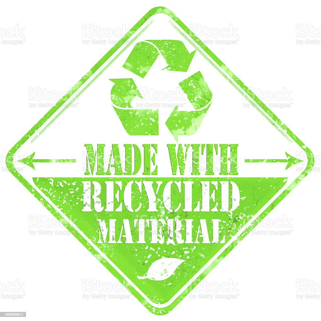 Made With Recycled Materials Sign royalty-free stock photo