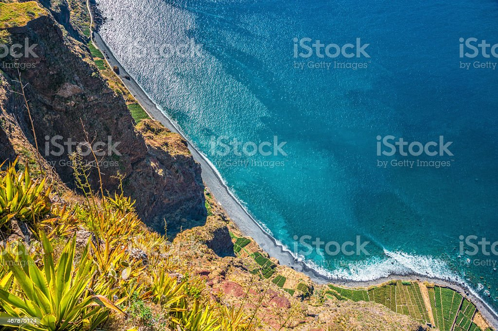 Madeira Coastline - Cabo Girao stock photo