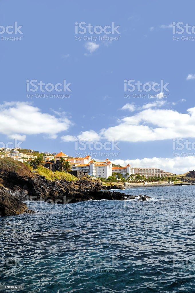 Madeira coastline, Canico de Baixo royalty-free stock photo