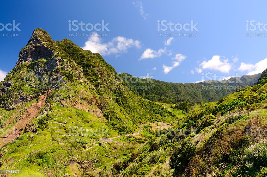 Madeira North Coast Mountains for Hiking Spring royalty-free stock photo