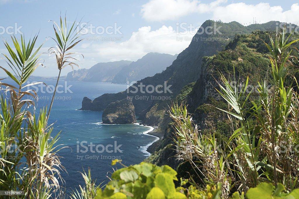 Madeira, view from Ponta do Clerigo stock photo