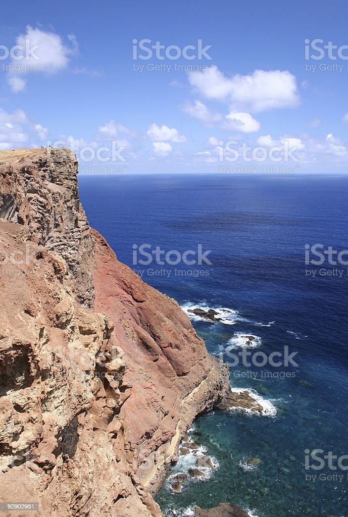Madeiran Cliffs royalty-free stock photo