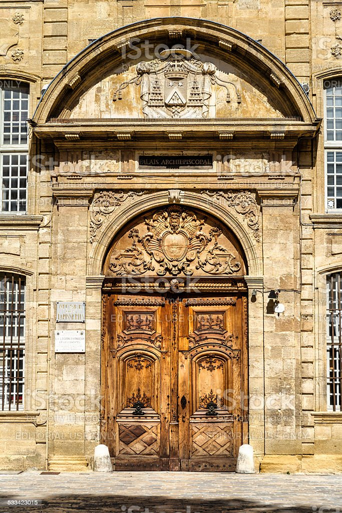 Madeleine Church in Aix en Provence stock photo