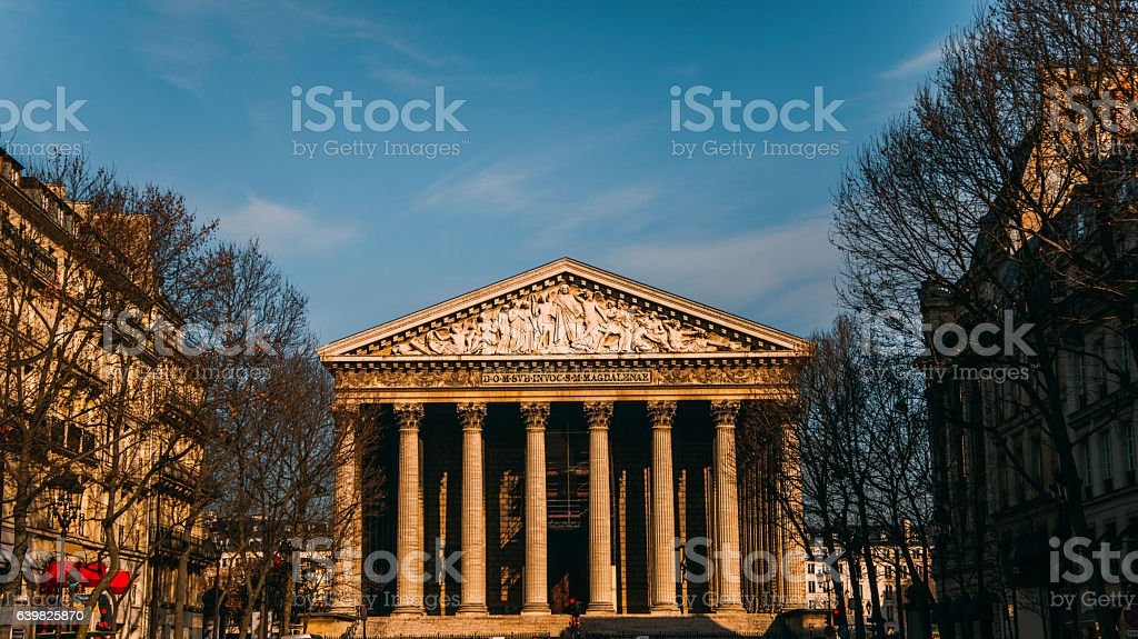 Madeleine church, Paris stock photo
