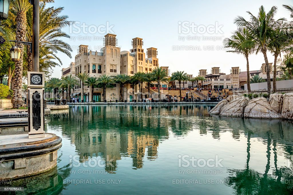 Madinat Jumeirah hotel in Dubai, UAE stock photo