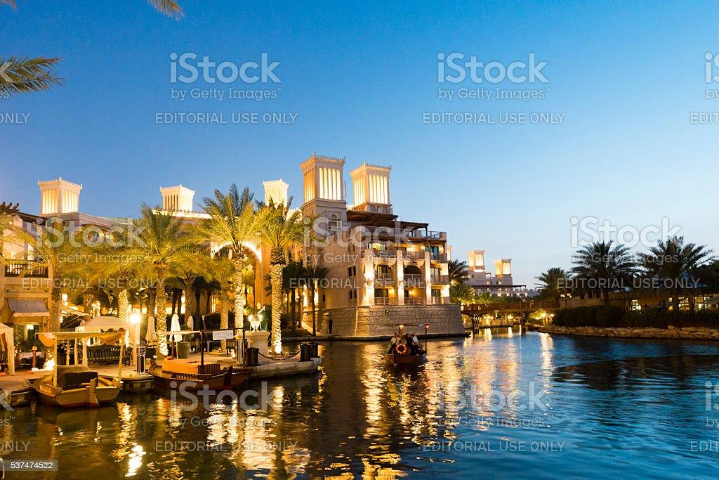 Madinat Jumeirah in Dubai stock photo