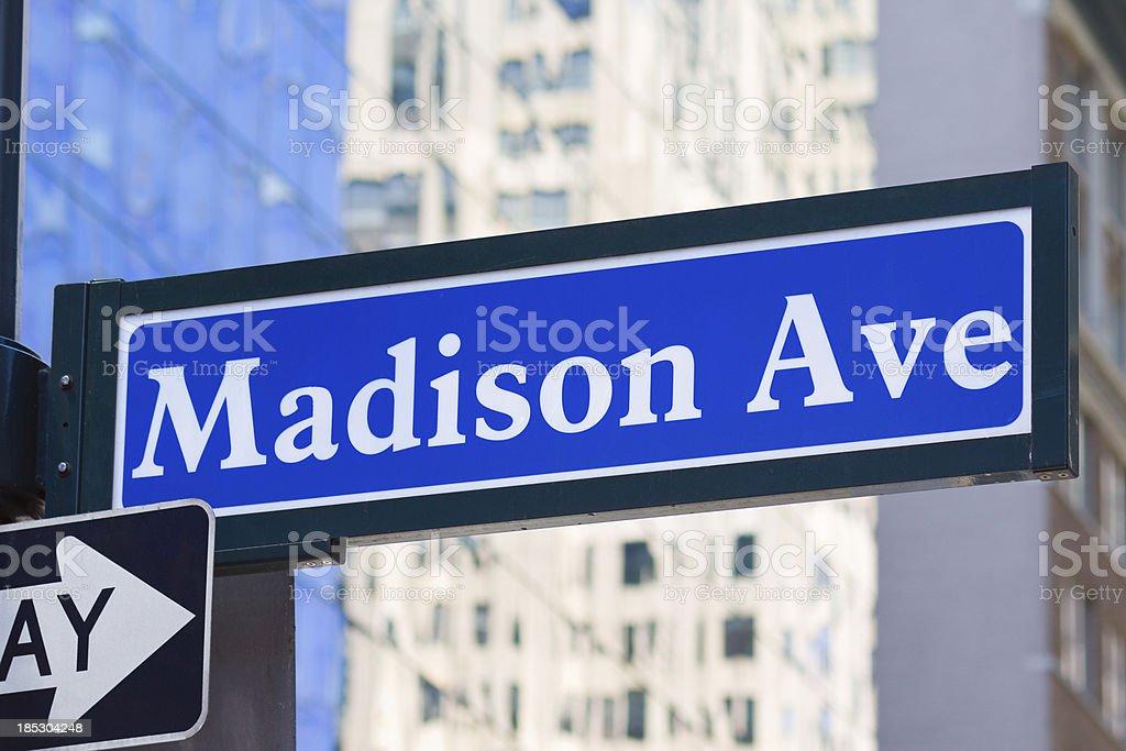 Madison Ave, Manhattan, New York City stock photo