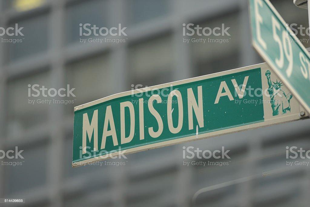 Madison Ave stock photo