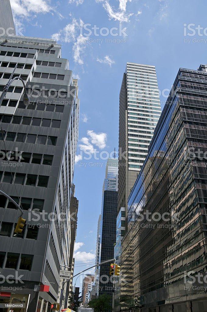 Madison Avenue, Manhattan Cityscape, New York City stock photo