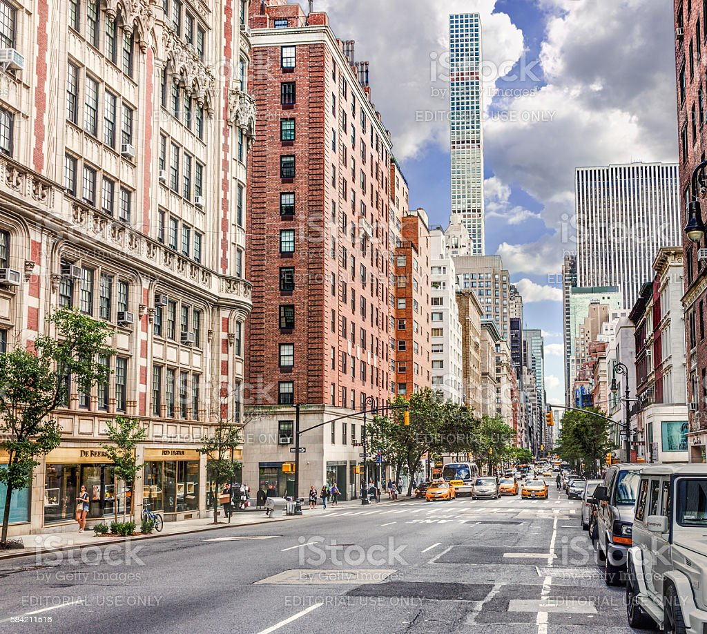 Madison Avenue, Manhattan Upper East Side, New York. stock photo