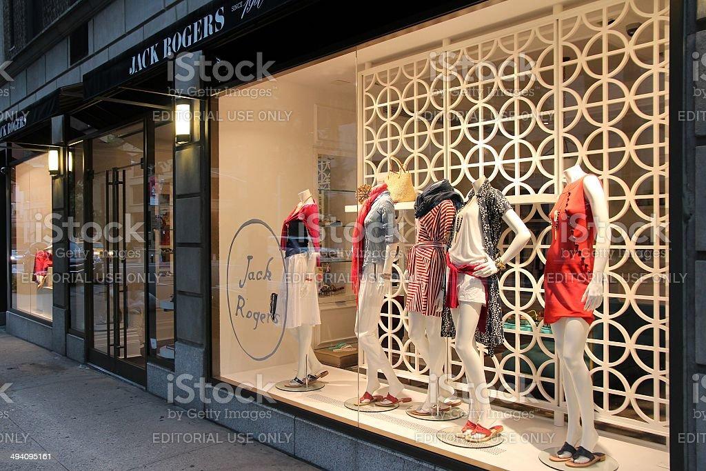 Madison Avenue shopping stock photo