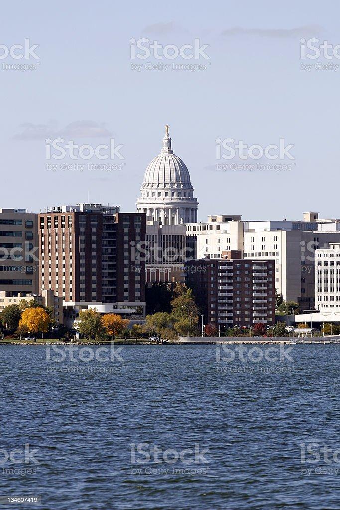 Madison Capitol Skyline royalty-free stock photo