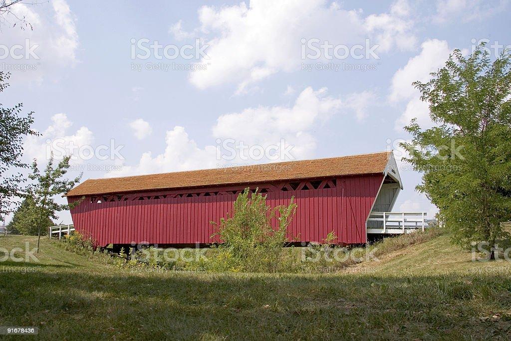 Madison County bridge royalty-free stock photo
