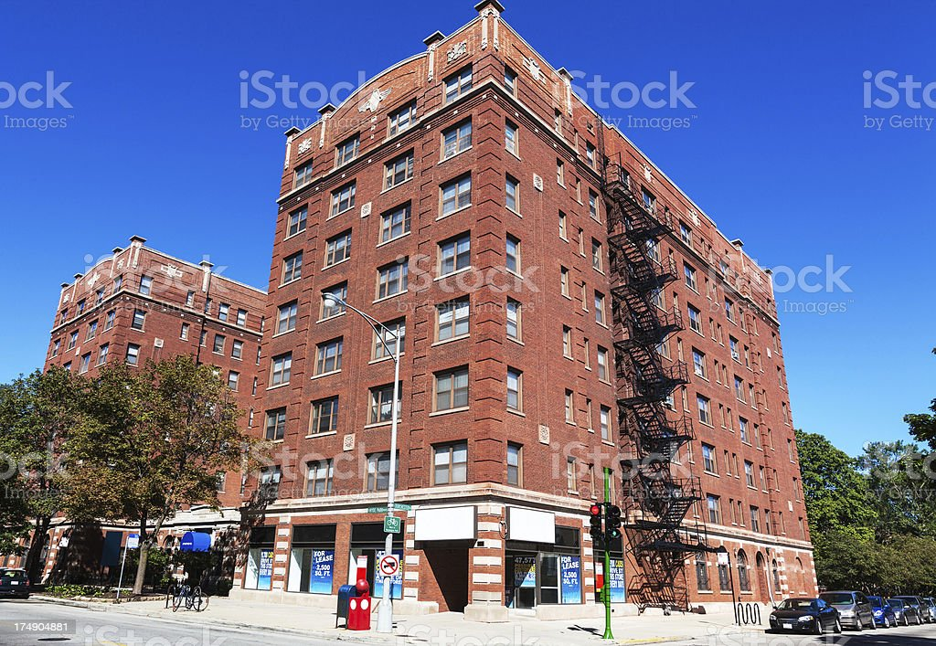Madison Park Apartments in Kenwood, Chicago stock photo