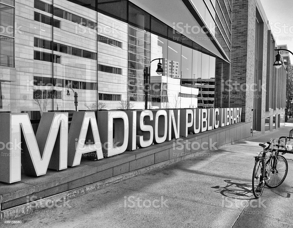 Madison Public Library in Wisconsin stock photo