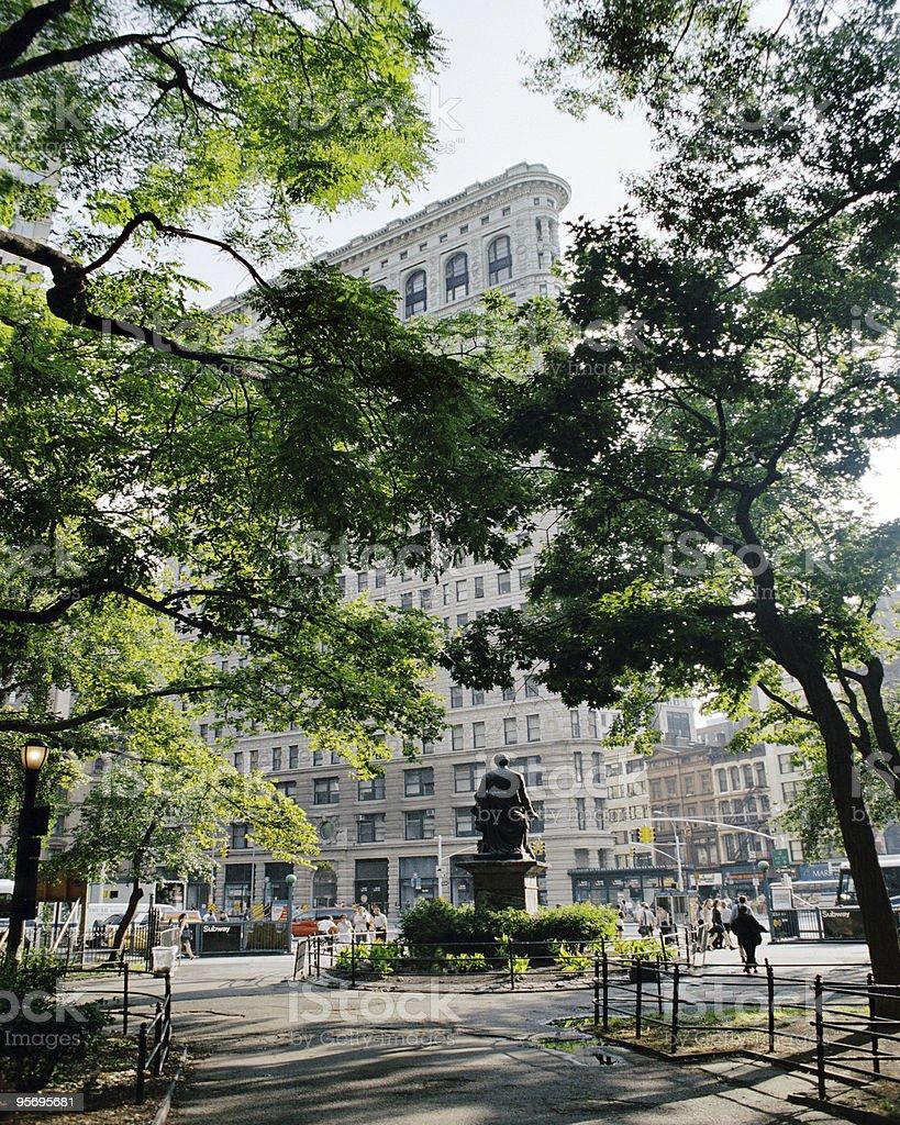 Madison Sq Park, 23rd Street New York City stock photo