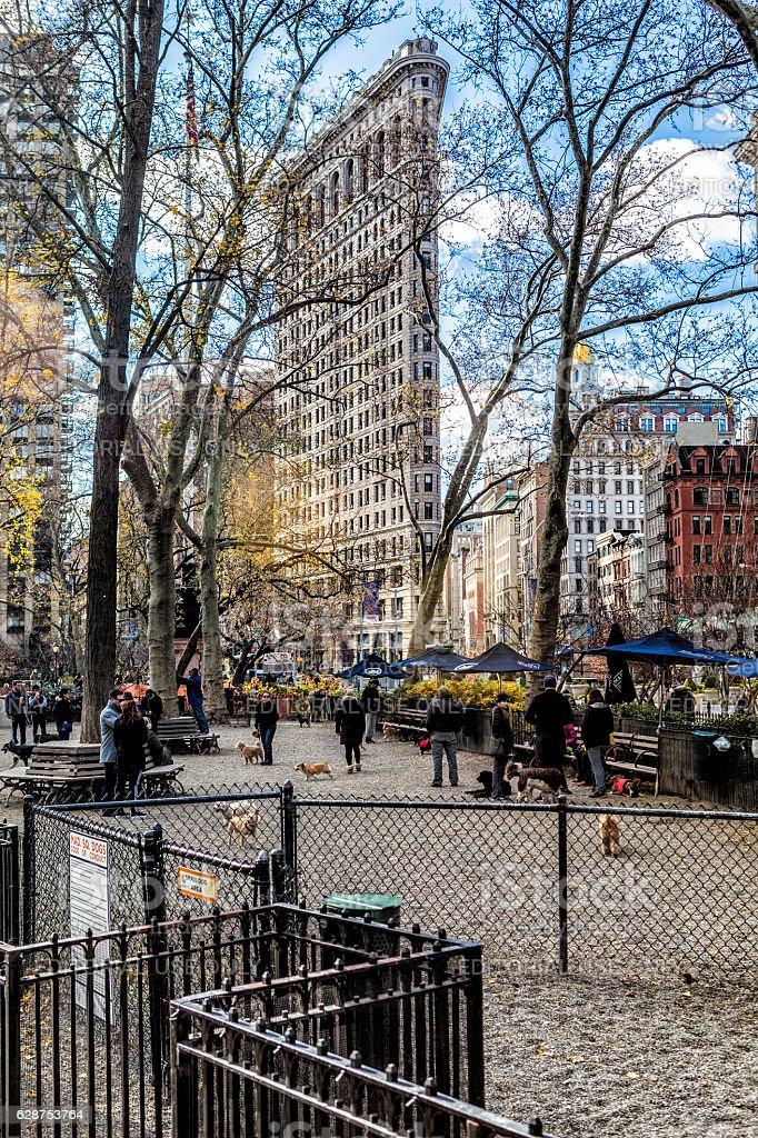 Madison Square and Flatiron Building stock photo
