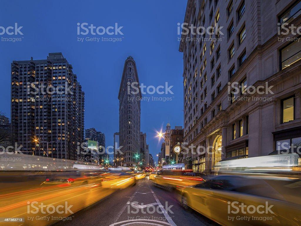 Madison Square / Flatiron dusk stock photo