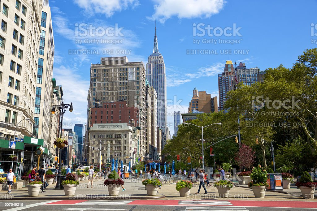 Madison Square Park and Broadway stock photo