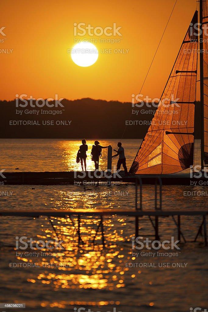 Madison Sunset Sailing stock photo
