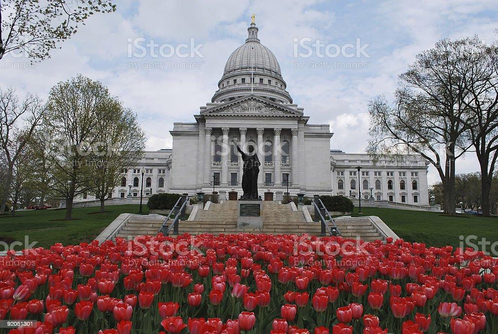 Madison, WI captiol building royalty-free stock photo