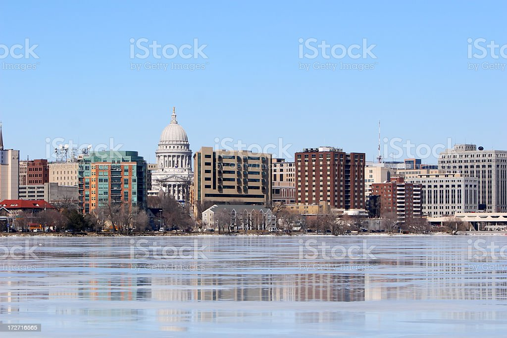 Madison, WI in Winter stock photo