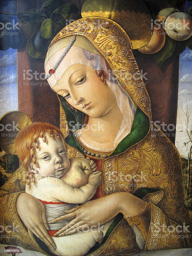 Madonna And Child By Carlo Crivelli 1480AD stock photo