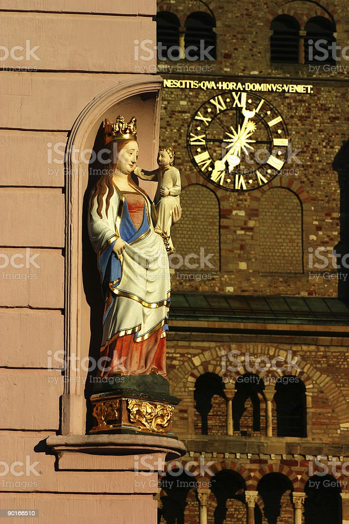 Madonna & Child, Trier royalty-free stock photo