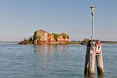 Madonna del Monte island in Venice lagoon, Italy.