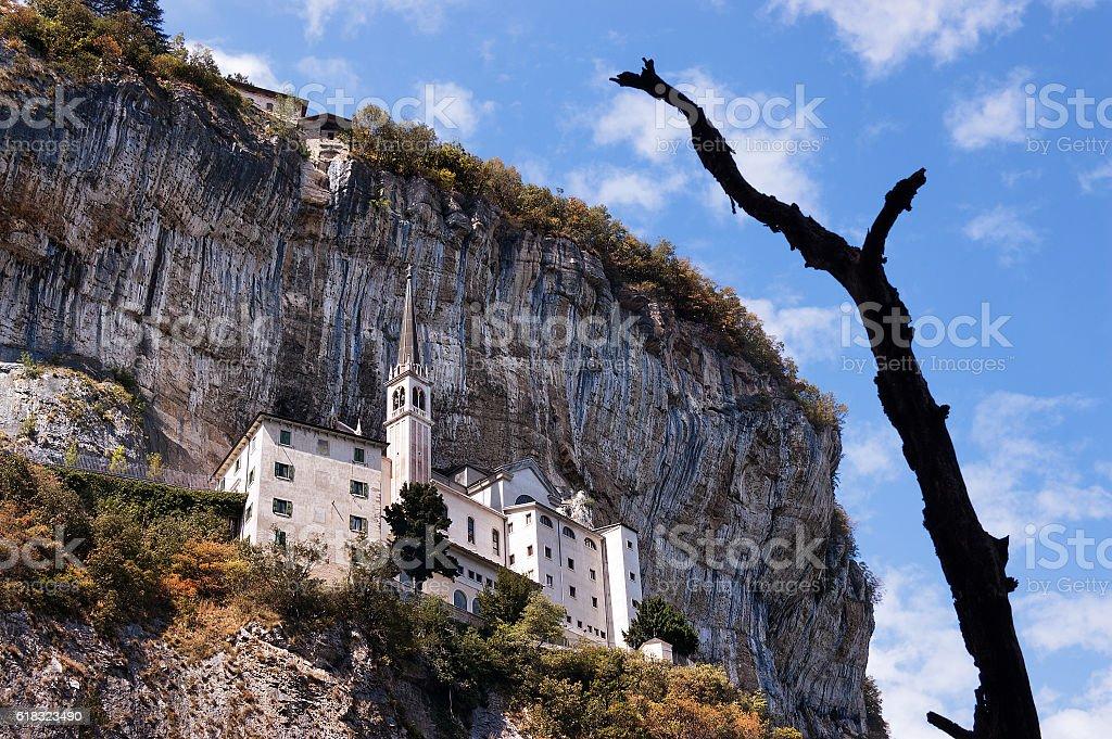 Madonna della Corona Sanctuary - Verona Italy stock photo