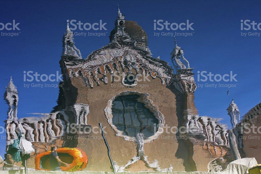Madonna dell'Orto reflected stock photo