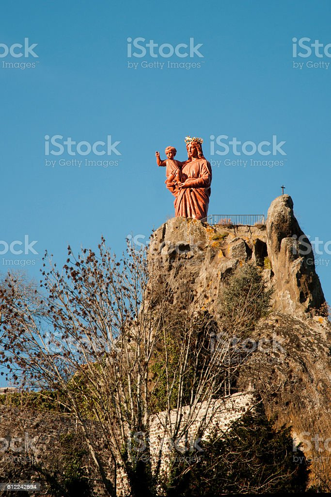 Madonna in Le Puy en Velay - France stock photo