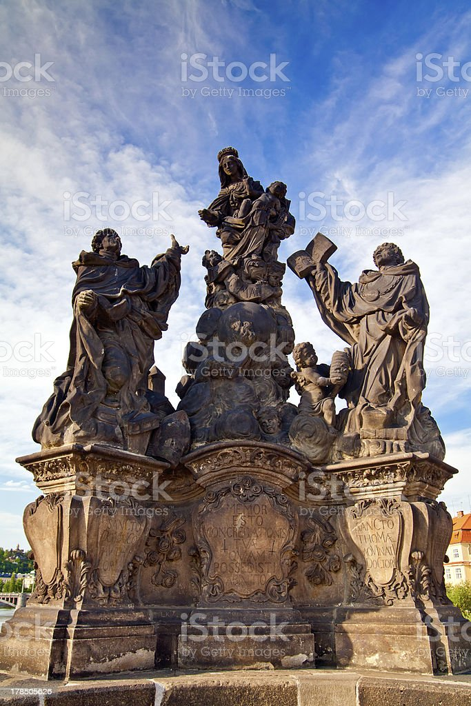 Madonna - Sculpture On A Charles Bridge, Prague royalty-free stock photo