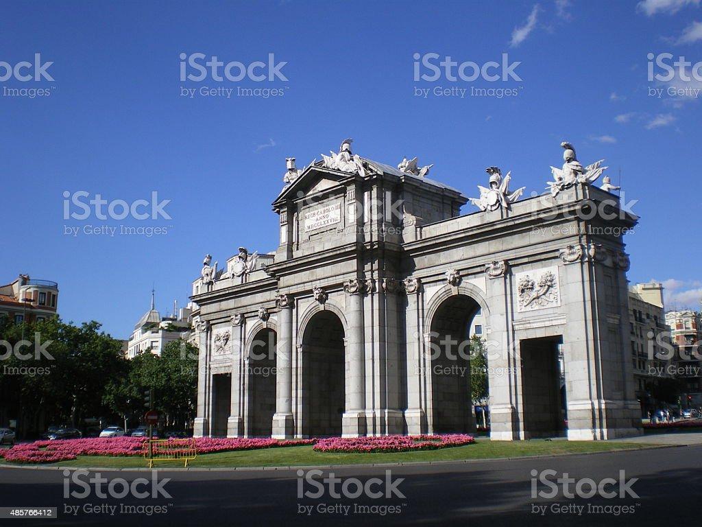 Madrid 18th century Puerta de Alcala stock photo