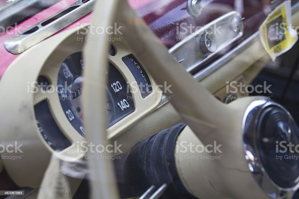 Madrid 3 Jul 'Party old Classic car' Seat 600 1963 stock photo