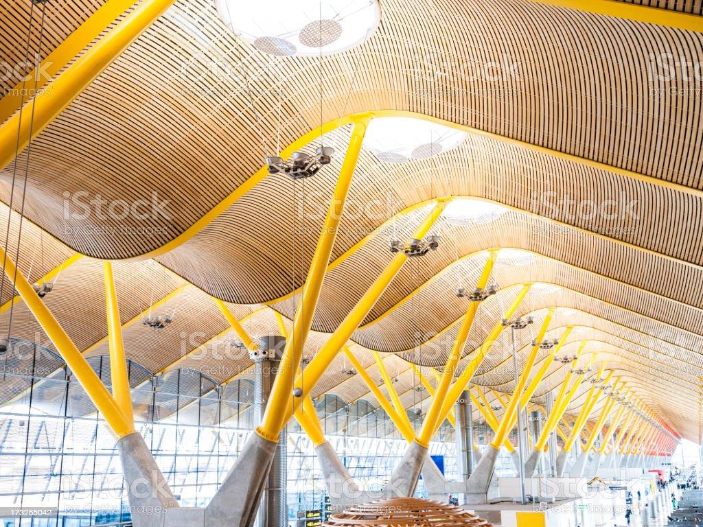 T4 Madrid Barajas airport stock photo