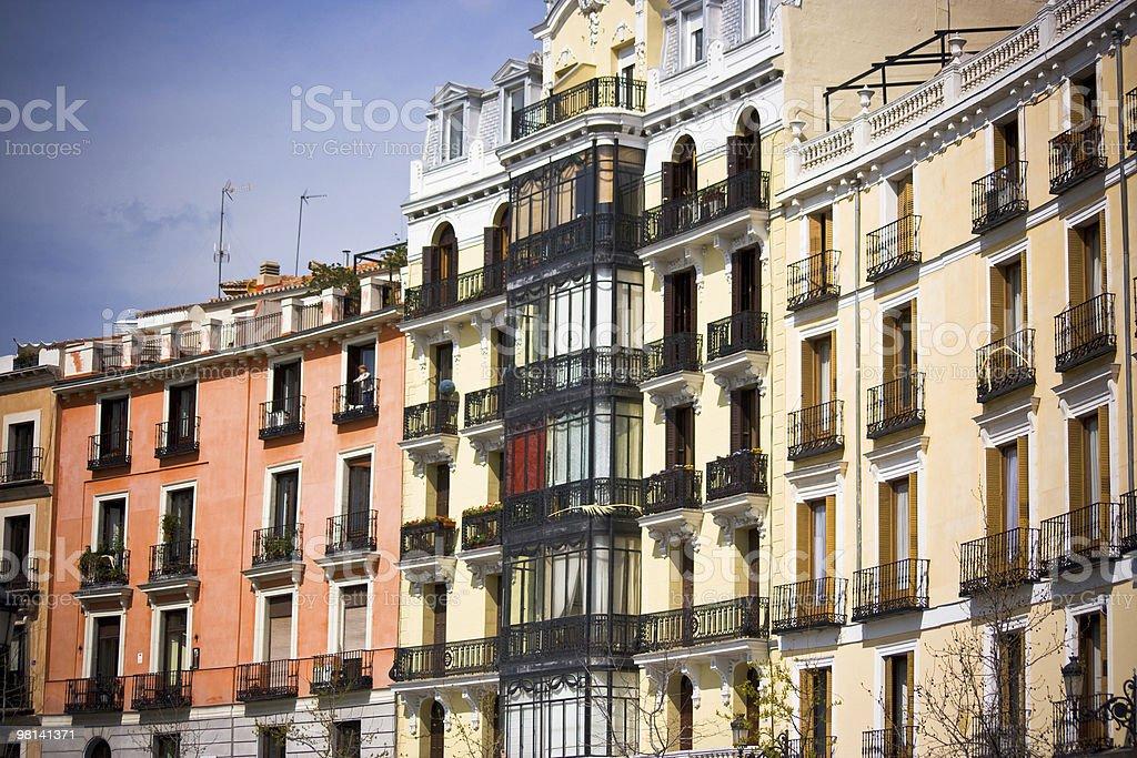 Madrid buildings stock photo