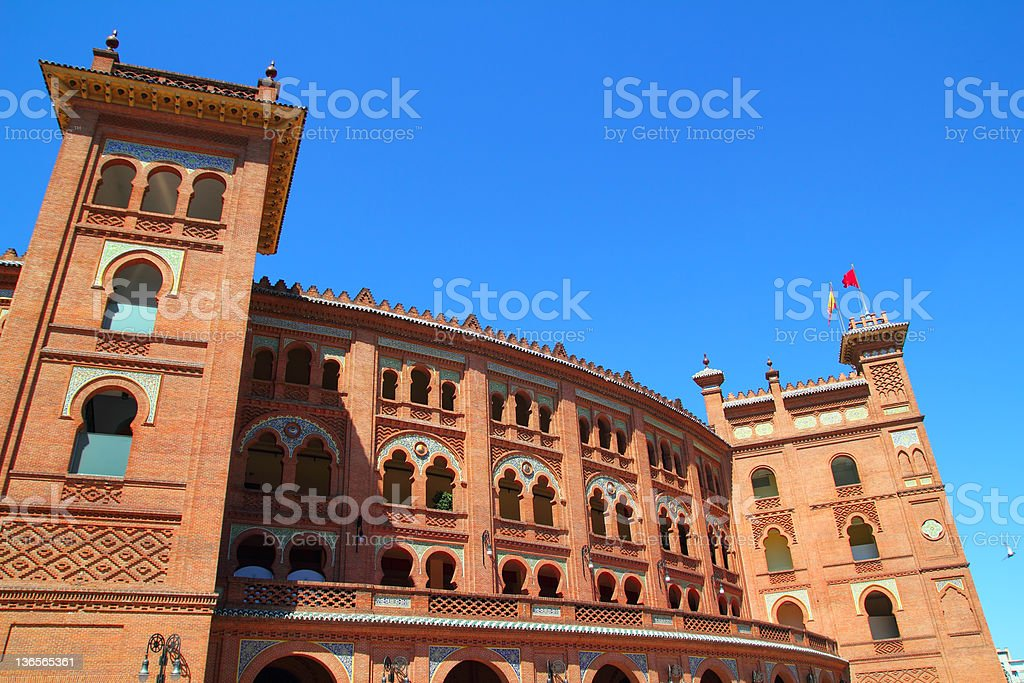 Madrid bullring Las Ventas Plaza toros stock photo
