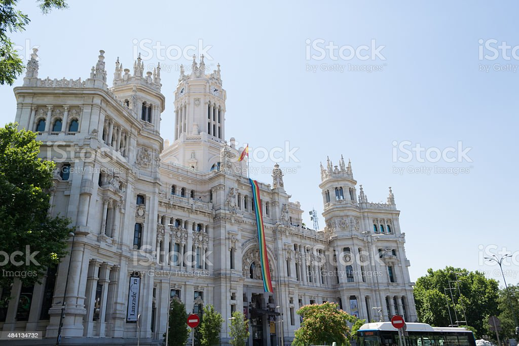 Madrid city hall stock photo