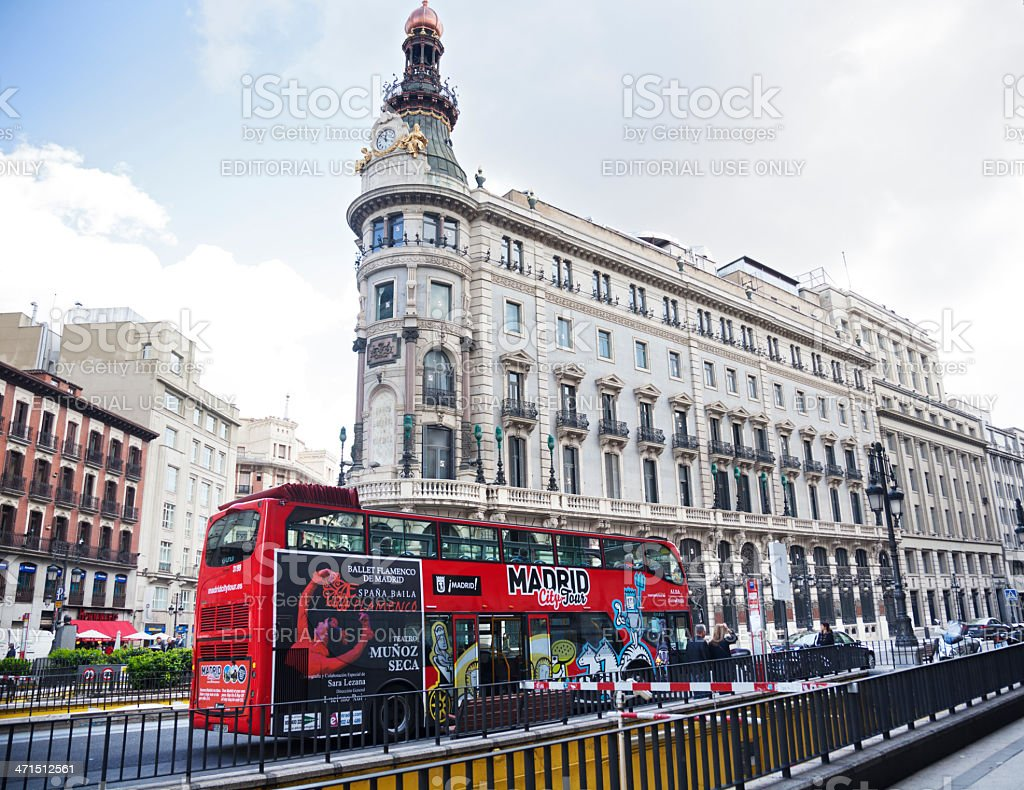 Madrid city scene royalty-free stock photo