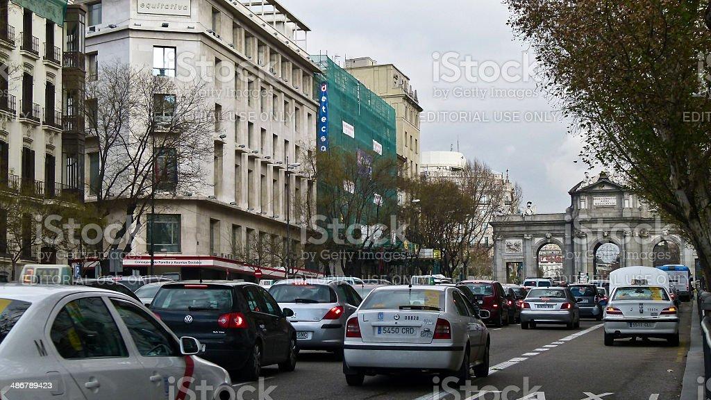 Madrid city scene stock photo