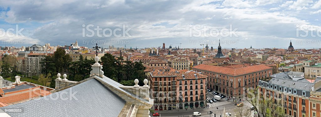 Madrid cityscape panorama royalty-free stock photo