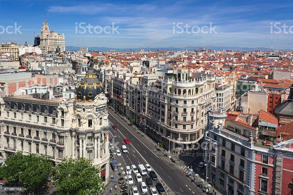 Madrid cityscape stock photo