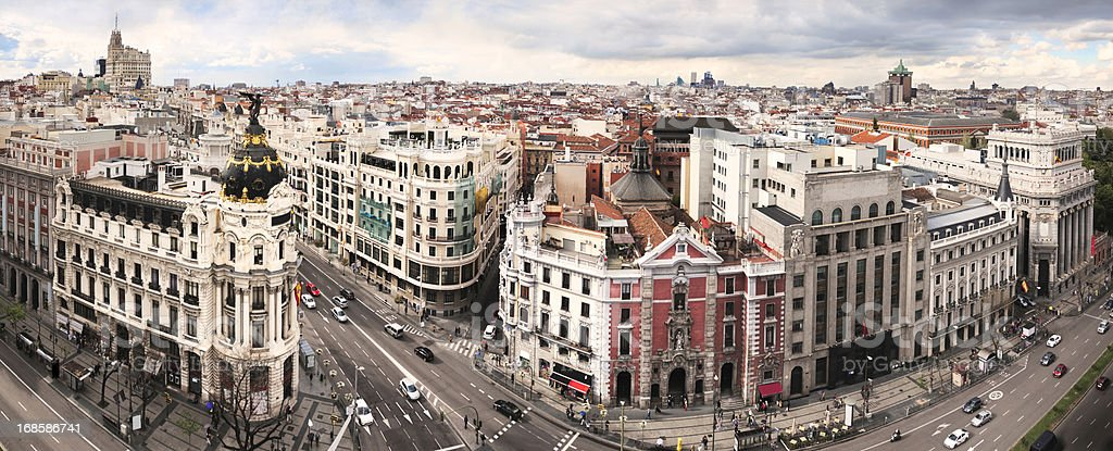 Madrid Classic Cityscape stock photo