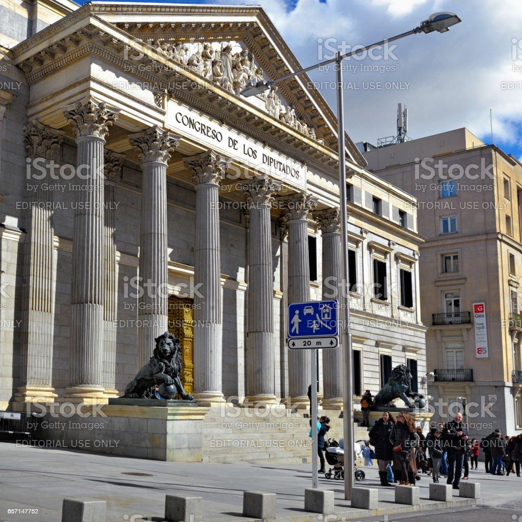 Madrid, Cortes stock photo