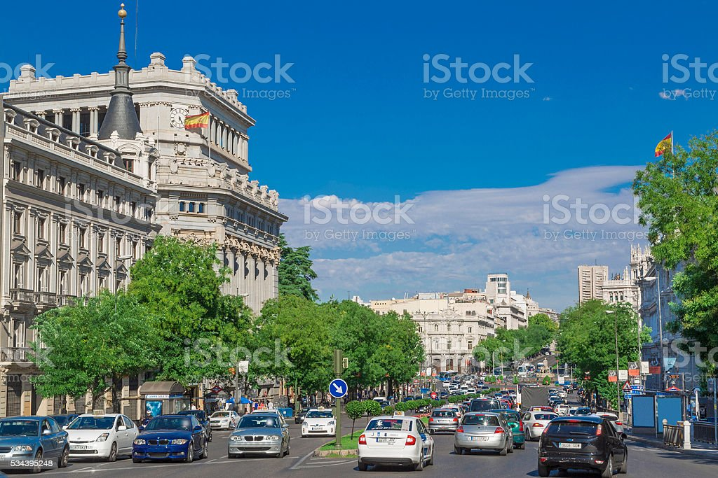 Madrid downtown stock photo