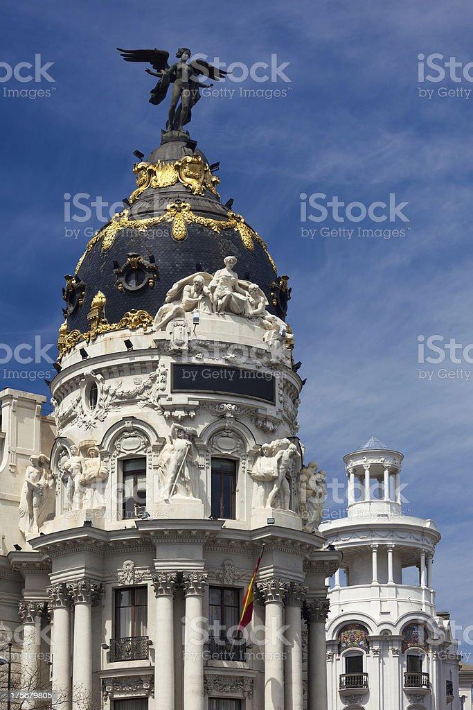 Madrid (Spain) / Famous Statue - Gran Via royalty-free stock photo